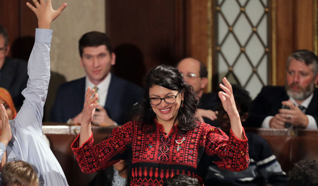 Congresswoman Rahida Tlaib on the floor of the House (Photo: Chip Somodevilla/Getty Images)