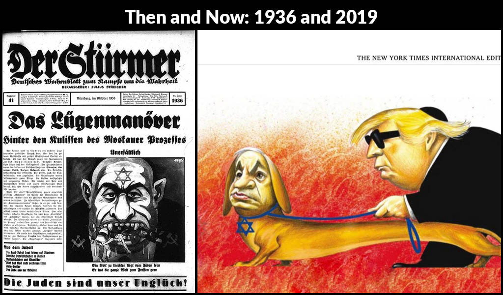 New York Times Publishes Cartoon Worthy Of Nazi Propaganda Clarion