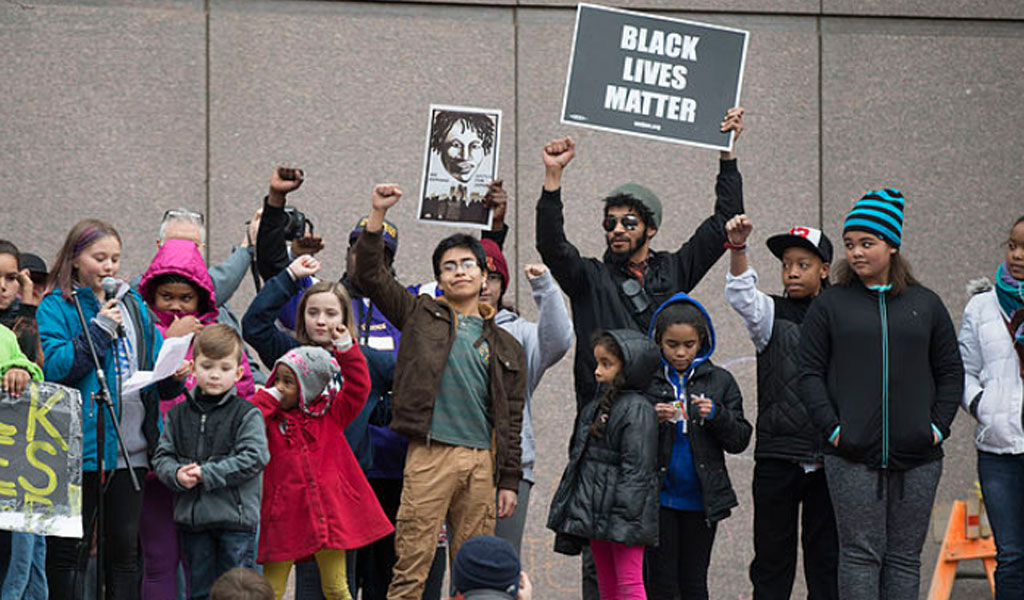 Young protesters join the Black Lives Matter movement (Photo: Wikimedia Commons/Fibonacci Blue/Creative Commons 2.0)