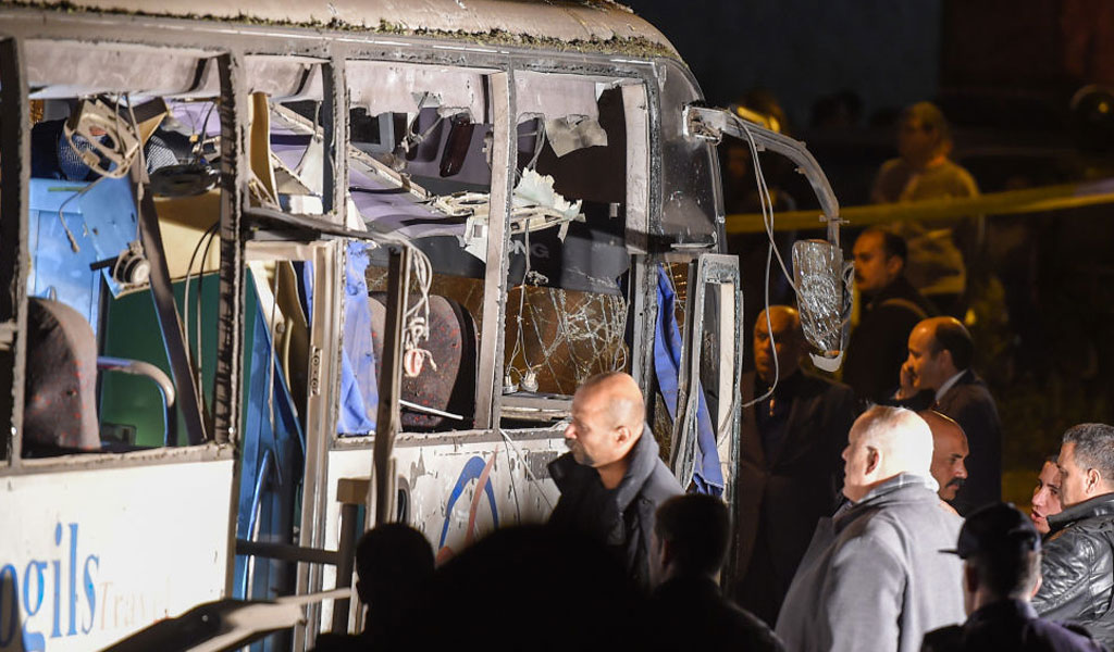A similar bombing, presumably by the same Muslim Brotherhood group, of a bus of Vietnamese tourists in December 2018 (Photo: MOHAMED EL-SHAHED/AFP/Getty Images)