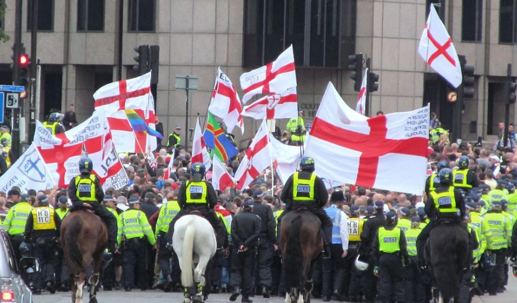 An EDL protest in London 2013 (Photo: David Holt/Flickr)