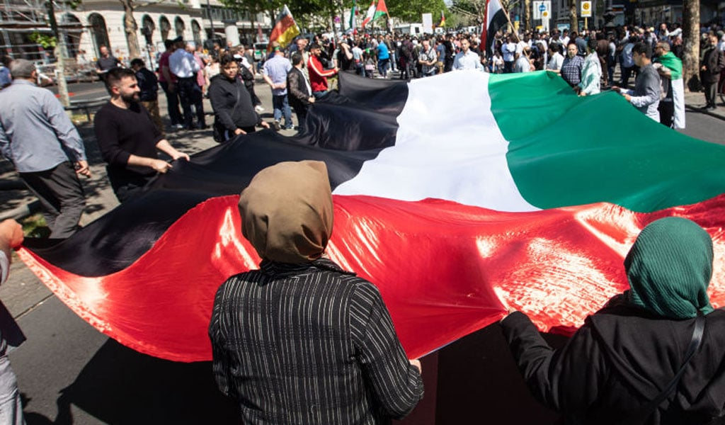 Al-Quds (Jerusalem) Day rally in Berlin. Pro-Iranian and pro_Hezbollah protesters traditionally call for the destruction of Israel at this event (Photo: Omer Messinger/Getty Images)