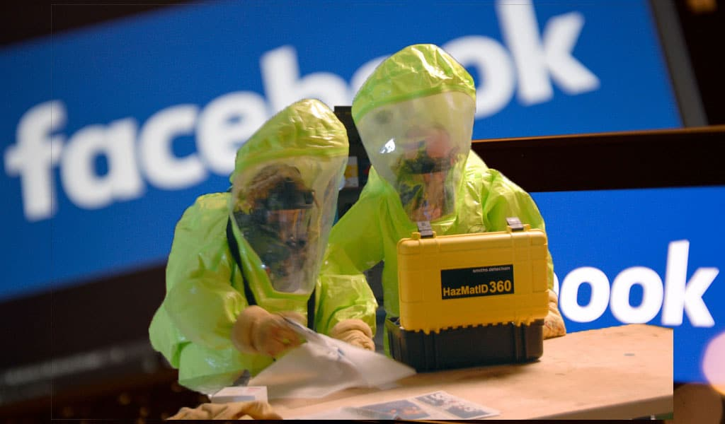 (Illustrative photo. Background: Justin Tallis/Getty Images. Inset: Hazmat suit drill/Flickr 108th Wing)