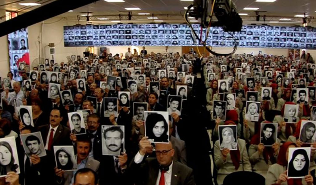 Survivors and witnesses of Iran's 1988 massacre gave their testimony about the crimes they witnessed. on July 15, 2019, at the Free Iran conference in Albania (Photo: Courtesy)