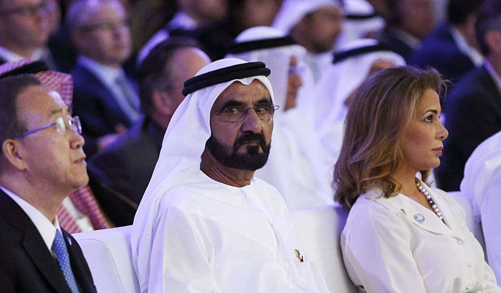 Ruler of Dubai Sheik al-Maktoum and his wife Princess Haya (Photo: STRINGER/AFP/Getty Images)