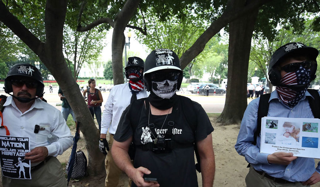 Neo-Nazis march in Washington, D.C. in August 2018 (Photo: Mark Wilson/Getty Images)