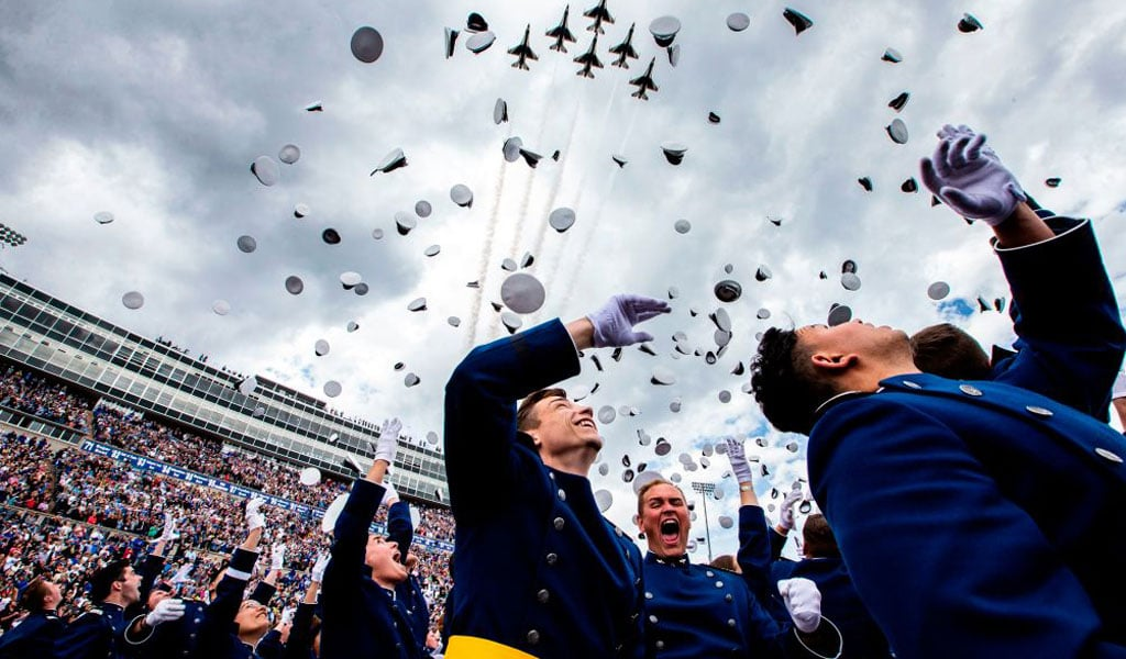 Air Force graduates celebrate (Photo: CHET STRANGE/AFP/Getty Images)