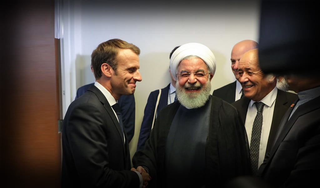 French President Emmanuel Macron (L) with Iranian President Hassan Rouhani at the UN in 2018 (Photo: LUDOVIC MARIN/AFP/Getty Images)
