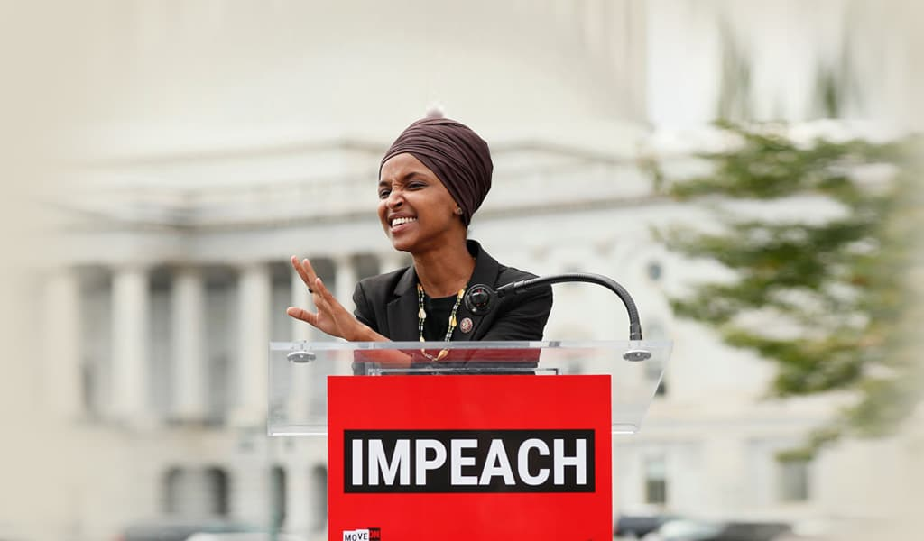 Congresswoman Ilhan Omar (D-MN) speaks in support of impeachment of President Trump on September 26, 2019. (Photo: Paul Morigi/Getty Images for MoveOn Political Action)