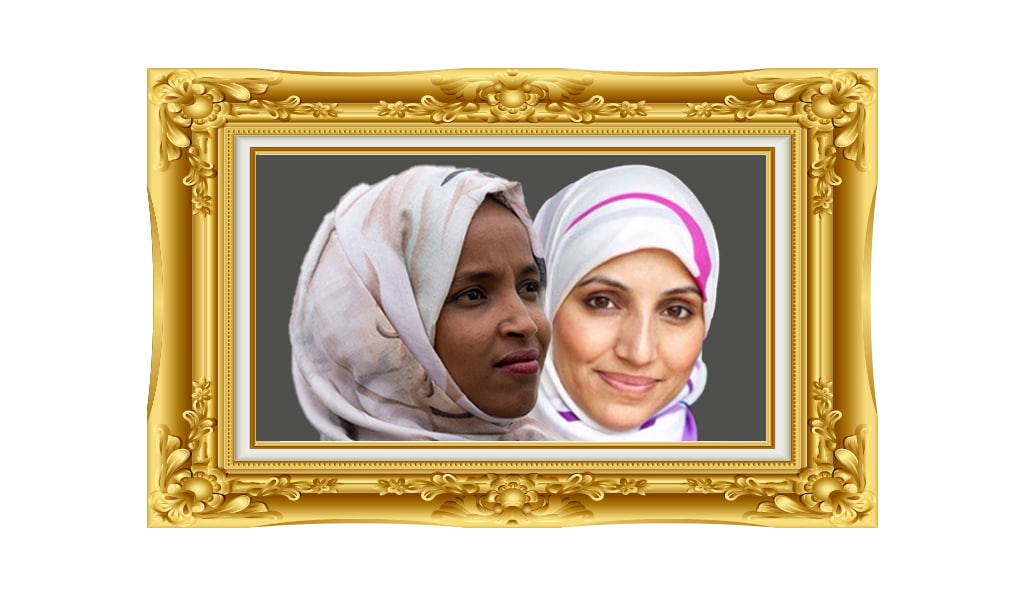 Left: Congresswoman Ilhan Omar (Photo: Stefani-Reynolds/Getty Images); Right: UK Labour candidate Salma Yaqoob (Photo: Twitter)