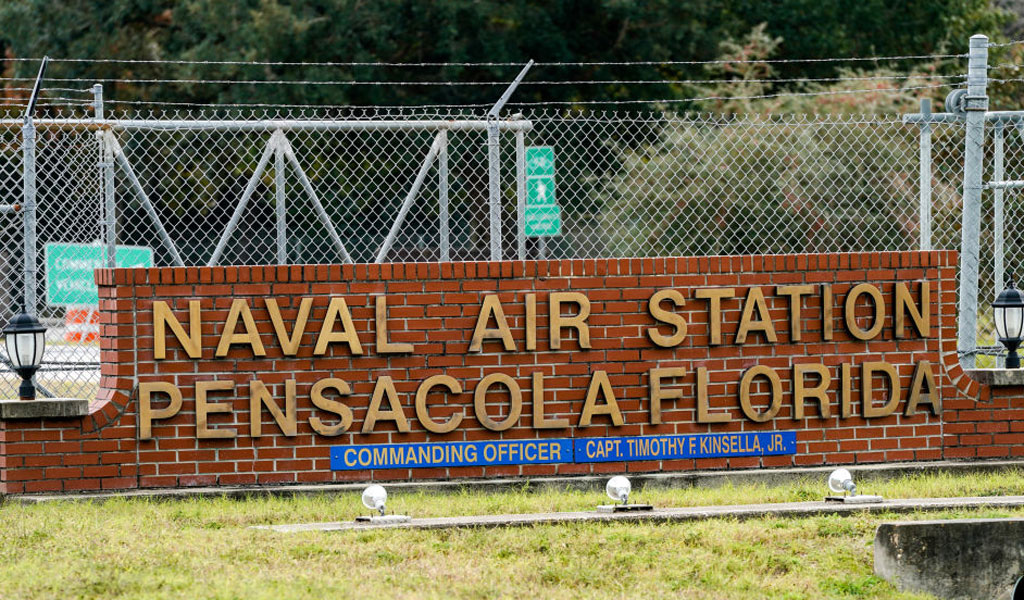 Entrance to the Pensacola base (Photo: Josh Brasted/Getty Images)