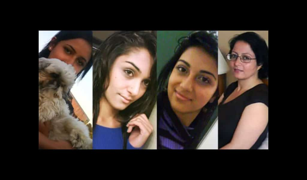 Geeti, Zainab and Sahar Shafia were honor killed along with their father's first wife, Rona Amir Mohammad (Trial evidence)