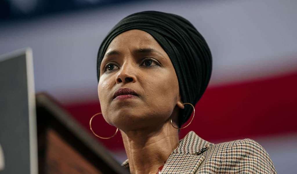 Congresswoman Ilhan Omar recently gave an interview in which she invoked antisemitic slurs, as she has done in the past (Photo: Scott Heins/Getty Images)