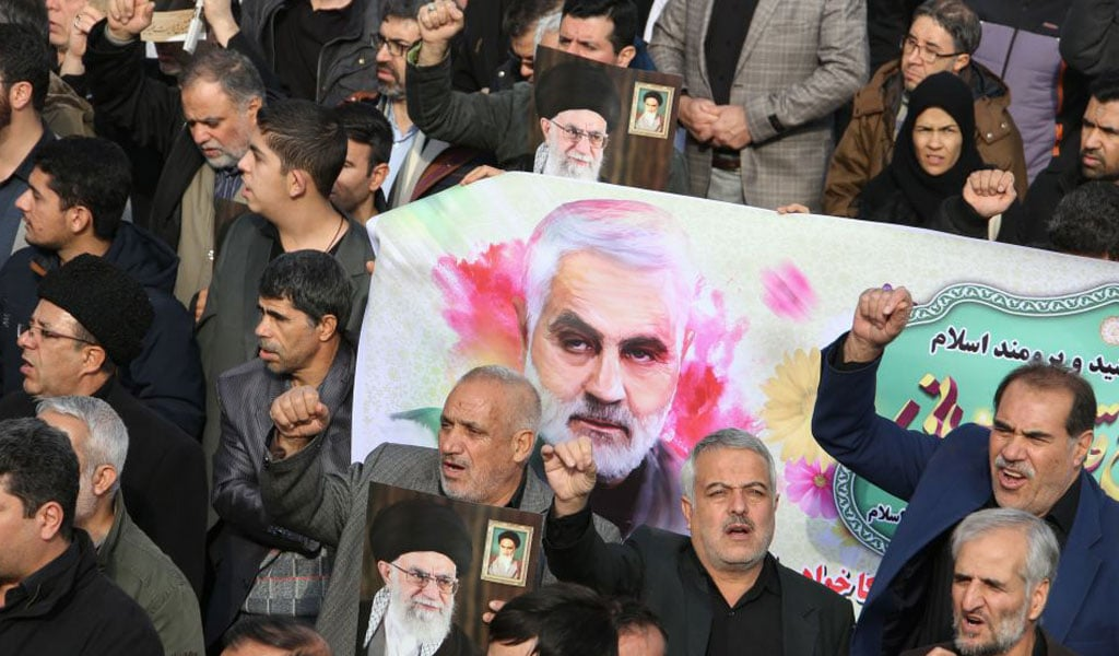 Iranian protest the assassination of General Qasem Soleimani by the US (Photo: ATTA KENARE/AFP via Getty Images)