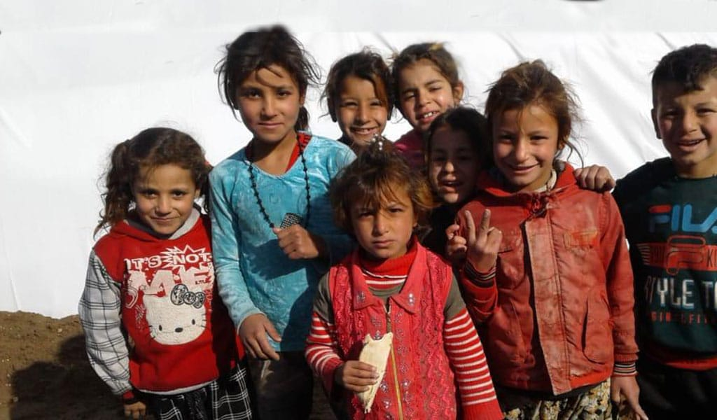 Yazidi children in the Shariyah Camp in Iraq who are being helped by Springs of Hope (Photo: courtesy)