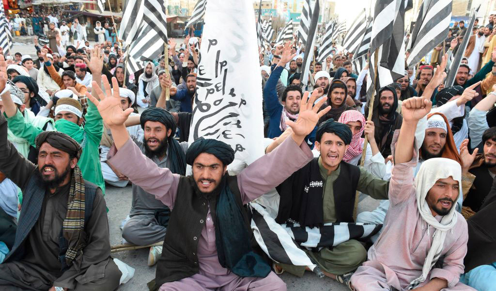 Taliban supporters celebrate the historic agreement signed between the US and the Taliban (Photo: BANARAS KHAN/AFP via Getty Images)