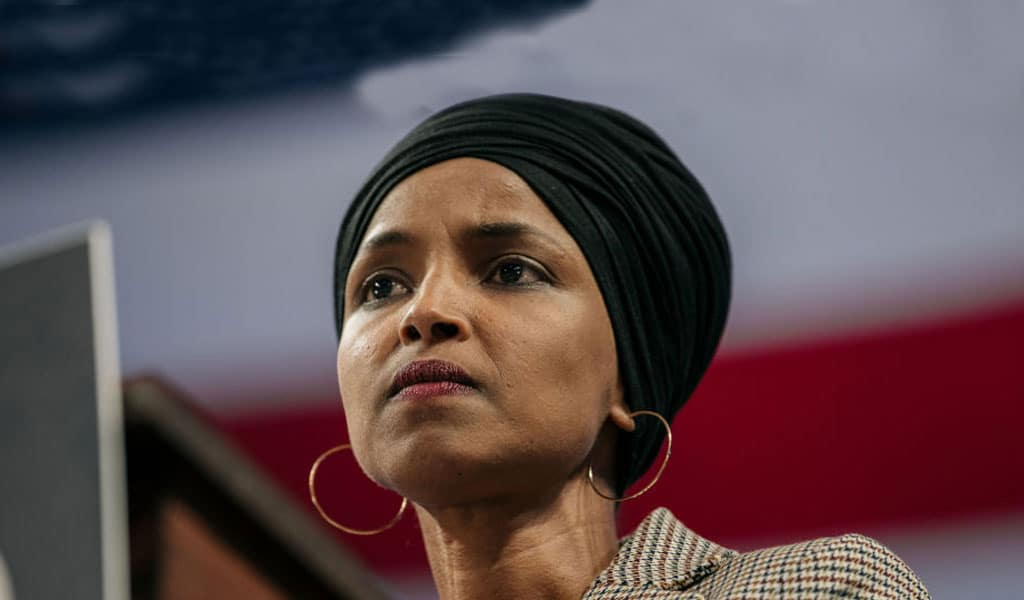 Ilhan Omar tweeted out the sharia punishment of flogging for critics of her adulterous affair (Photo: Scott Heins/Getty Images)