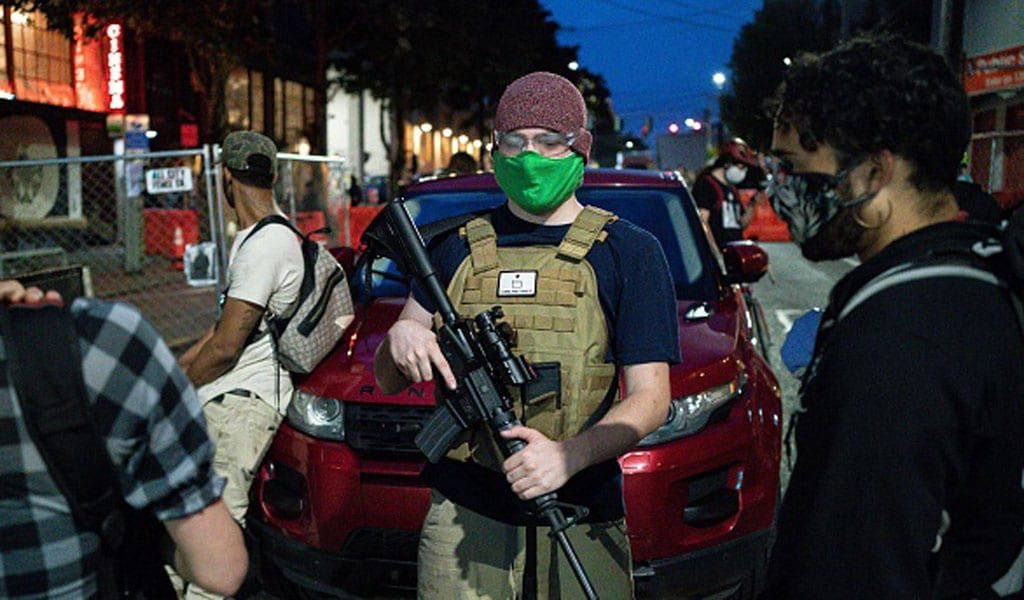 "The entrance to Seattle's ""autonomous zone"" (Photo: David Ryder/Getty Images)"