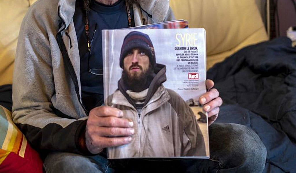 Quentin LeBrun, a French jihadi who joined ISIS is being held in a Kurdish prison in Syria (Photo: ERIC CABANIS/AFP via Getty Images)