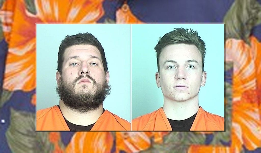 Boogaloo Bois Michael Solomon (L) and Bejamin Teeter (Photo insets: Sherburne County Jail)