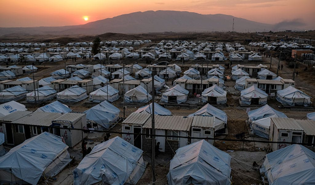 A refugee camp in Dohuk, Iraq in October 2019 for internally displaced persons (Photo: Photo by Byron Smith/Getty Images)