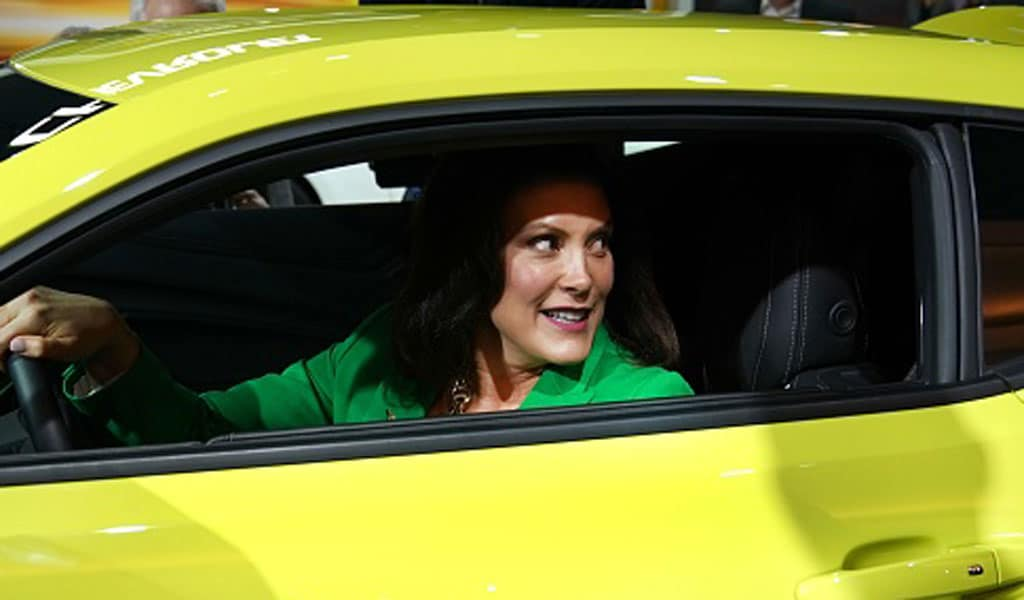 Gretchen Whitner in January 2019 at an auto show shortly after she was elected as Michigan's governor (Photo: TIMOTHY A. CLARY/AFP via Getty Images)