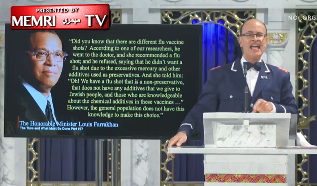 Ishmael Muhammad, assistant to the leader of the Nation of Islam, Louis Farrakhan (Photo: MEMRI video screenshot)