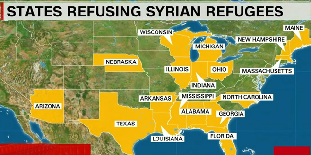 Governors of 27 States Say They Oppose Syrian Refugees in US